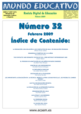 Mundo Educativo, Número 32 (05-02-2009)