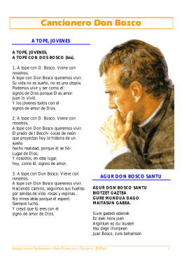 Cancionero Don Bosco - Salesianos en España