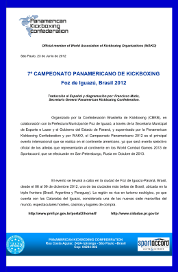 7º CAMPEONATO PANAMERICANO DE KICKBOXING Foz