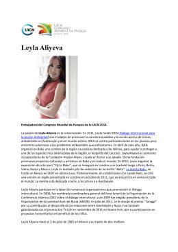 Leyla Aliyeva - IUCN World Parks Congress