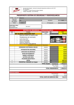 presupuesto sistema de seguridad y videovigilancia kit alarma
