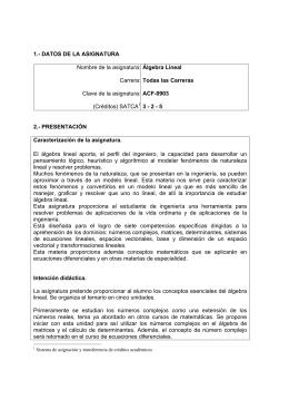 Álgebra Lineal - Instituto Tecnológico de Aguascalientes