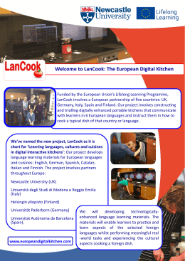 Welcome to LanCook: The European Digital Kitchen