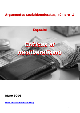 Críticas al neoliberalismo - Web profesional de Jose Rodríguez