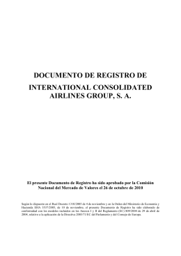 documento de registro de international consolidated airlines group, sa