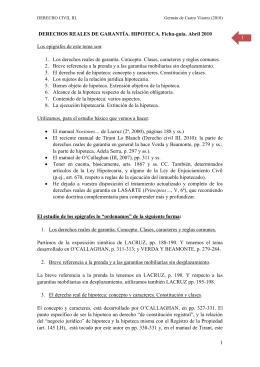1 1 DERECHOS REALES DE GARANTÍA. HIPOTECA