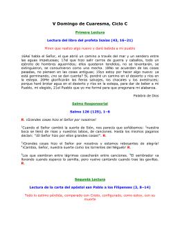 V Domingo de Cuaresma, Ciclo C. San Juan 8, 1–11: El que esté