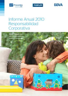 Informe Anual 2010 Responsabilidad Corporativa
