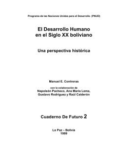 El Desarrollo Humano en el Siglo XX boliviano