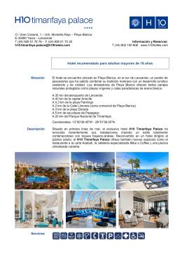 Ficha PDF - H10 Hotels