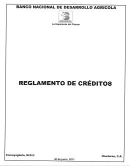Reglamento de Créditos