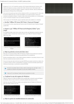 Restablecimiento de la contraseña de Windows | Fan HBCD y