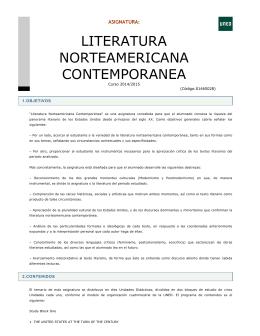 LITERATURA NORTEAMERICANA CONTEMPORANEA