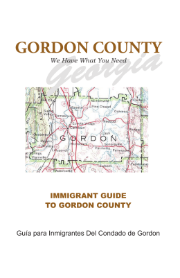 Georgia GORDON COUNTY