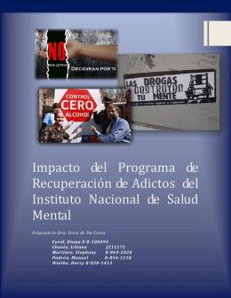 Impacto del Programa de Resuperación de Adictos del Instituto