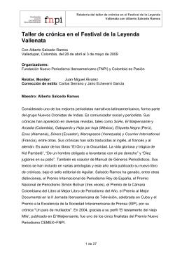 RELATORÍA FESTIVAL VALLENATO CAS