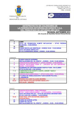 calendario federación asturiana 2014