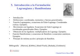 5. Introducción a la Formulación Lagrangiana y - OCW-UV