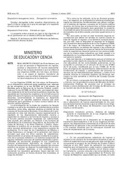 Real Decreto 276/2007 - Universidad Pública de Navarra