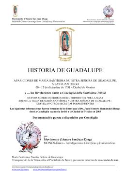 Historia de Guadalupe - Conchiglia