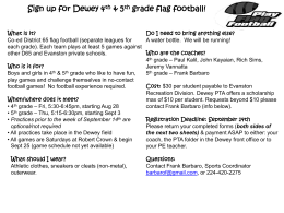 Sign up for Dewey 4th & 5th grade flag football!