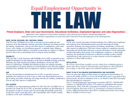 Equal Employment Opportunity is