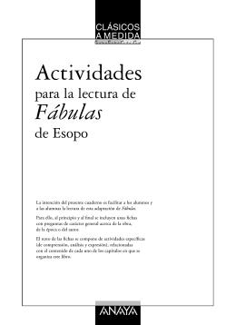 Fábulas de Esopo (fichas de actividades)