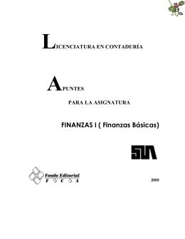 FINANZAS I ( Finanzas Básicas)
