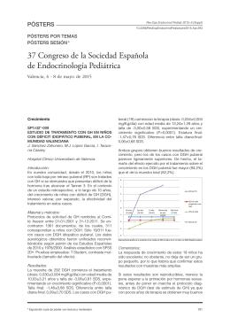 Descargar PDF - Revista Española Endocrinología Pediátrica