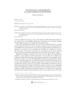 Fenomenotecnia y conceptualización en la epistemología de