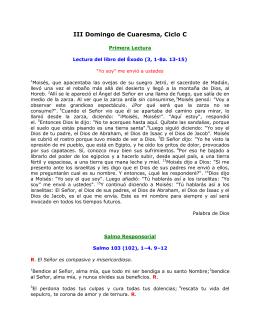 III Domingo de Cuaresma, Ciclo C. San Lucas 13, 1–9