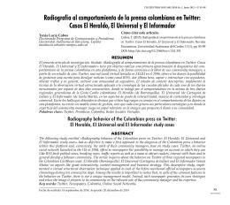 Radiografía al comportamiento de la prensa colombiana en
