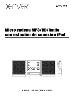 Micro cadena MP3/CD/Radio con estación de conexión iPod