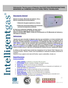 Información Técnica para el Detector dual-GAS (CH4