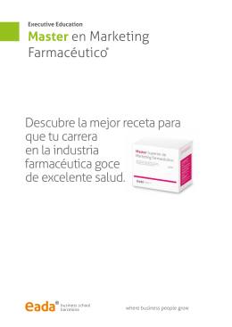 Master en Marketing Farmacéutico