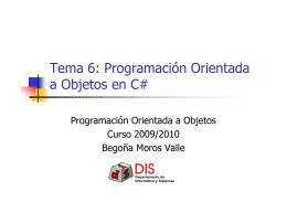Programación Orientada a Objetos en C