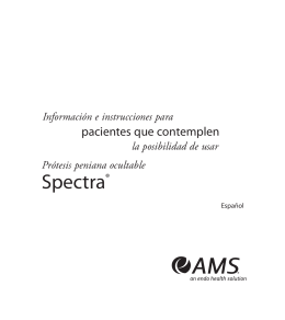 Spectra Patient Manual