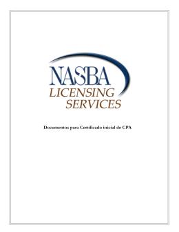 Documentos para Certificado inicial de CPA