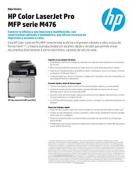 HP Color LaserJet Pro MFP serie M476