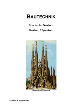 Bautechnik Spanisch-Deutsch/Deutsch