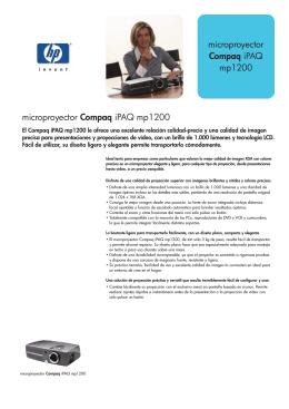 microproyector Compaq iPAQ mp1200 microproyector Compaq