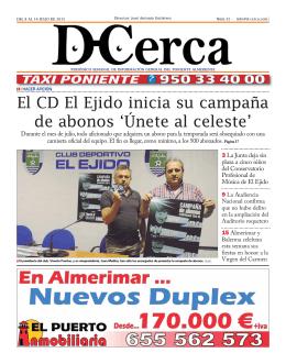 El CD El Ejido inicia su campaña de abonos `Únete al - D