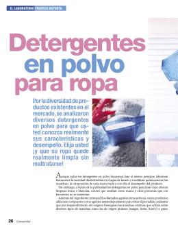 Detergentes en polvo para ropa