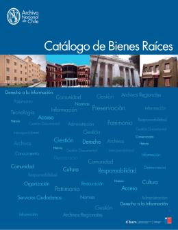 Catálogo de Bienes Raíces