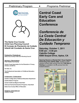 Central Coast Early Care and Education Conference Conferencia