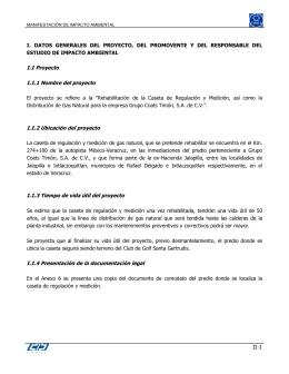 """El proyecto se refiere a la """"Rehabilitación de la Caseta de"""