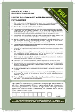 PRUEBA DE LENGUAJE Y COMUNICACIÓN