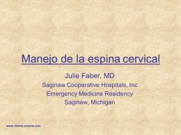 Manejo de la espina cervical