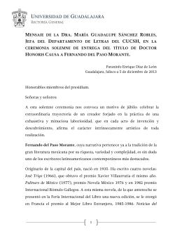 María Guadalupe Sánchez 05/12/2013