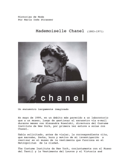 Coco Chanel - Instituto Strasser
